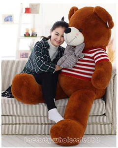 63in-Giant-Teddy-Bear-Plush-Soft-Toy-Valentine-Doll-Birthday-Gifts-with-Sweater
