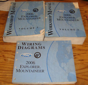 2006 Ford Explorer Mercury Mountaineer Shop Manual Vol 1 2 ...