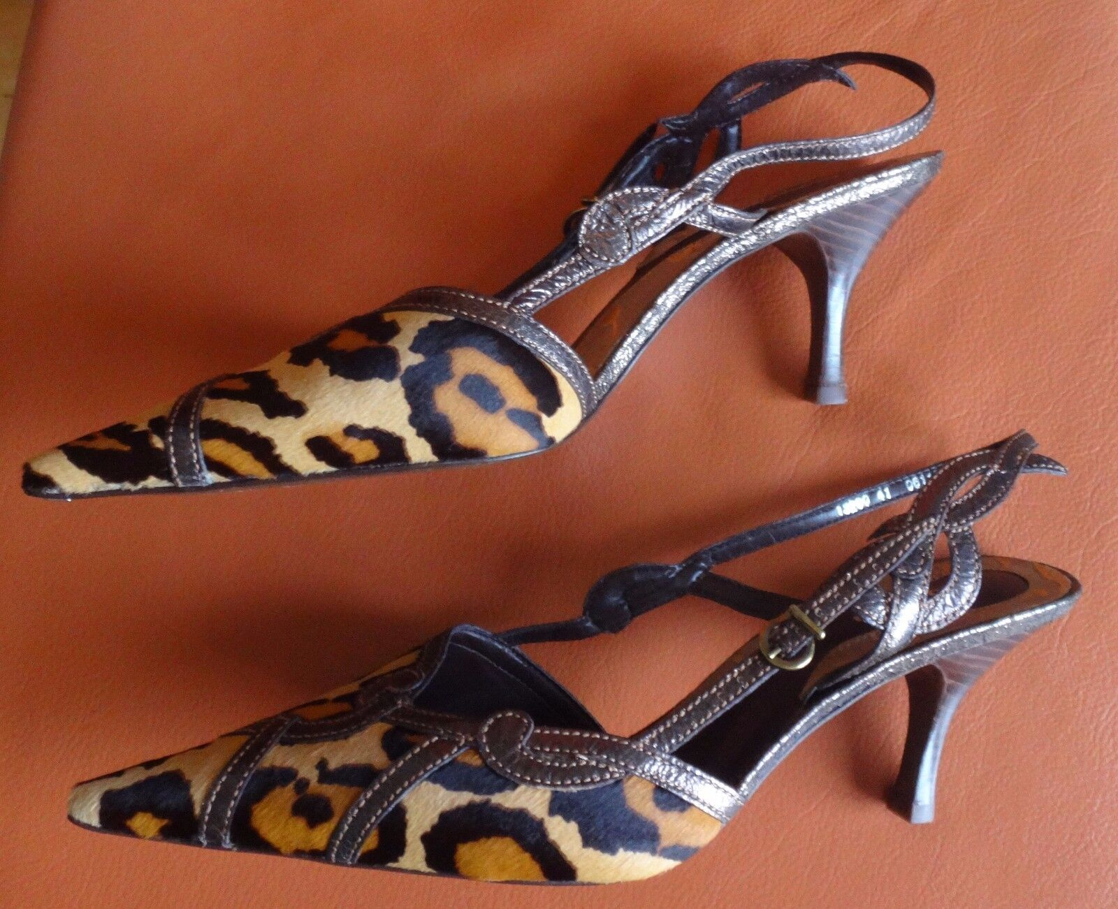 Traumschuh: Claudina Damen Echt in Fell Pumps Leder. Made in Echt Brazil Gr. 41 NEU+OVP 62894a