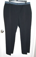 NEW Laura Plus Womens Size 18 Black Dress Pants Contrasting Waist Band