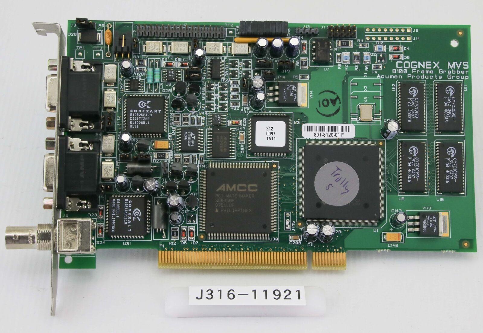 Cognex Mvs-8100 Frame GRABBER 801-8120-01 Machine Vision | eBay