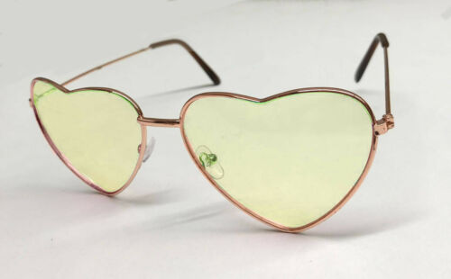 Heart Shape Glasses Sunglasses Shades 60s 70s Hippy Lennon Fancy Dress Festival