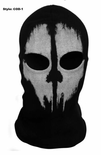 Call of Duty 10 Ghost COD Skull Full Face Mask Ski Skateboard Bike Hood