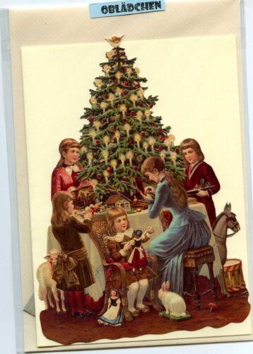 # GLANZBILDER # EF 5122 Glanzbilder-Karte Tannenbaum Weihnachtsbaum
