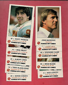 1986-KANSAS-CITY-CHIEFS-LAW-ENFORCEMENT-AGENCY-TIP-CARD-LOT