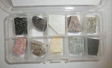 10 Metamorphic Rock Set packed in clear plastic box Education Stone Specimen Kit