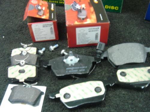 AUDI A3 S3 TT TDI 1.8 QUATTRO plaquettes de frein mintex FR RR