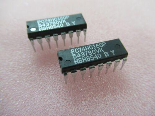 5 x PC74HC160P ORIGINAL PHILIPS IC DIP16 74HC160
