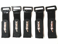 Apex Rc Products 30mm X 200mm Hd Rubberized Battery Straps - 5 Pack 3035 on sale