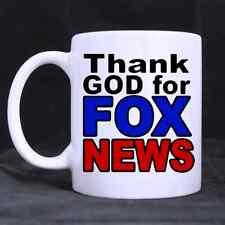 11oz Funny Thank God for Fox News Superior Quality Ceramic White Mug Twin Side