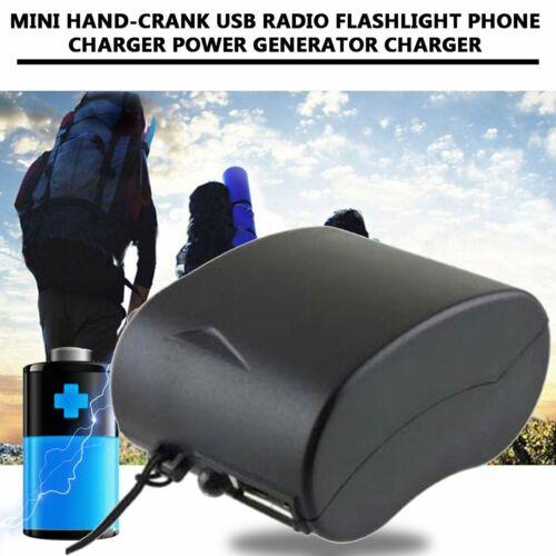 Mini Hand-Crank USB Radio Flashlight Phone Charger Power Generator Charger KW