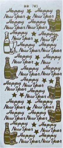 Feliz Año Nuevo Pegatinas removibles de estrellas celebración Gafas Cardmaking