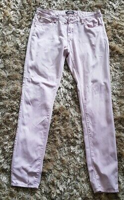 Ladies New Ex FBS Skinny Super Stretchy Stone Wash Blue Push Up Jeans