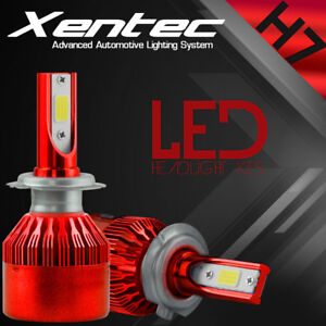 XENTEC-LED-HID-Headlight-kit-H7-White-for-Mercedes-Benz-ML430-1998-2001