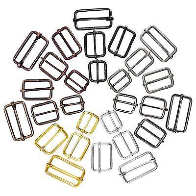 """Metal sliding bar strap adjuster buckles slider 1/"""" 1 1//4/"""" 1 1//2/"""" 20 25 30 mm"""
