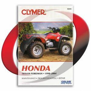 1998-2001-Honda-TRX450ES-Foreman-ES-Repair-Manual-Clymer-M205-Service-Shop