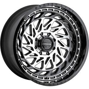 4-20x12 Machined Black Wheel Centerline LT8 848MB 6x135 6x5.5 -44