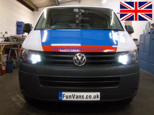 VW T5.1 LED DRL Daytime Running Lights bulbs xenon CANBUS no flicker Transporter