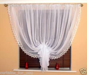 Ready Made Voile Net Curtains With Luxury Lace Available Various Designs Ebay