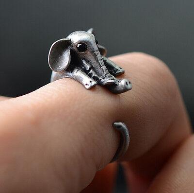 Super Retro Cute Elephant Magic Ring Women Rings Charm Animal Fashion Adjustable