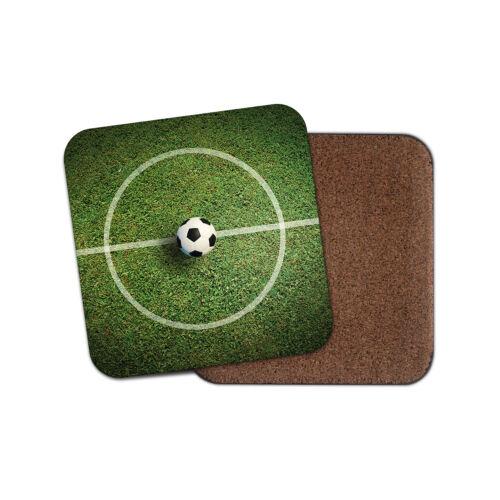 Posavasos campo de fútbol-Ball Sports Soccer Diversión Niños Niños Cool Papá Regalo #8681