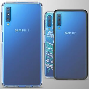 new style 7107d 49a76 Details about For Samsung Galaxy A7 (2018) Case TPU Bumper Hybrid  Shockproof Slim Phone Cover