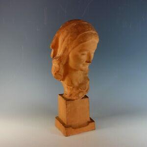Sculpture-of-a-woman-by-Italian-Sculptor-Ugo-Cipriani-1897-1960-Terra-Cotta