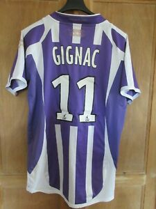 Maillot TFC TOULOUSE F.C GIGNAC n°11 AIRNESS vintage home shirt jersey camiseta