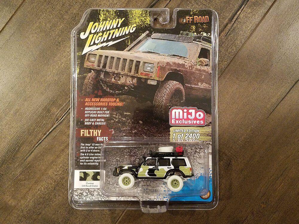 moda clasica Johnny Lightning 1 64 mijo Exclusives Jeep Cherokee XJ Off-Road Off-Road Off-Road jlcp 7153 Chase  diseño simple y generoso