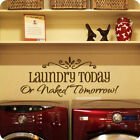 1pcs Laundry Saying Quote Wall Art Decal Sticker Vinyl Wall Home Lettering Words