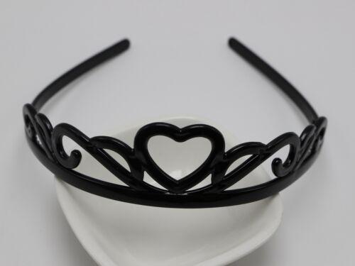 5 Assorted Black Plastic Crown Hair Tiara Princess Headband Hair band With Teeth