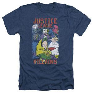 Justice-League-mechants-Penguin-DARKSEID-Joker-adulte-Heather-T-Shirt-Toutes-Les-Tailles