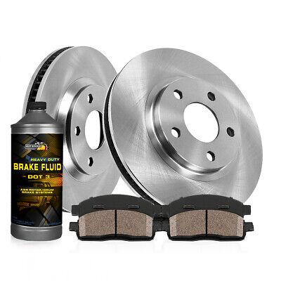 Front Rear Brake Rotors Ceramic Pads /& Brake Drums+Shoes Fits Voyager 2001 2002