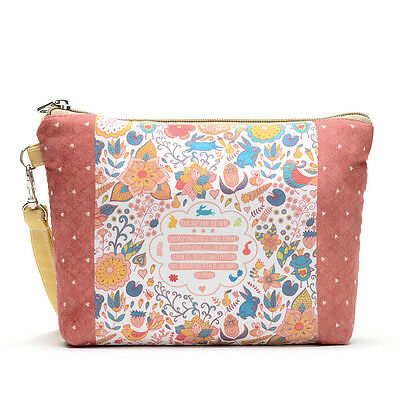 Portable Travel Zipper Toiletry Wash Case Makeup Cosmetic Bag Storage Pouch