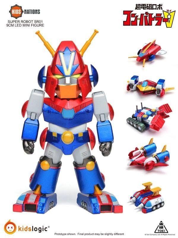 Kids Logics Super Robot SR01 - - - Combattler V Led Mini Figure Kids Nations 1102c0