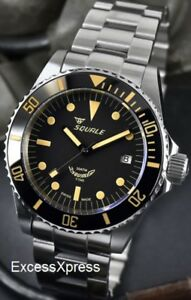 brand new squale 1545 30 atmos vintage ceramica watch full set under