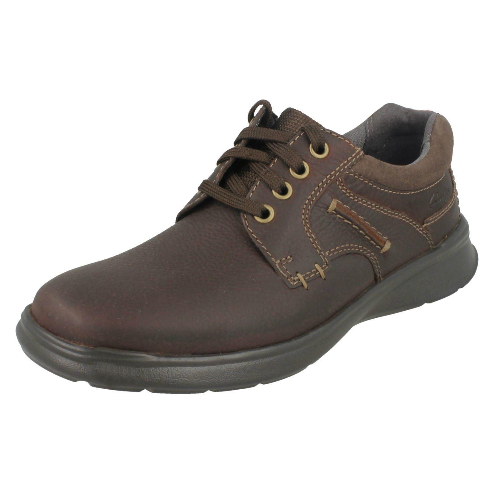 Scarpe casual da uomo  Clarks Uomo COTRELL tinta unita Marrone OLEOSO Scarpe numero x 9 calzata G