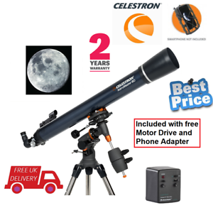 Celestron-AstroMaster-80EQ-MD-Refractor-Telescope-with-Motor-Drive-UK-Stock