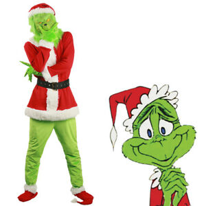 Santa Grinch Cosplay Costume How The Grinch Stole Christmas Suit