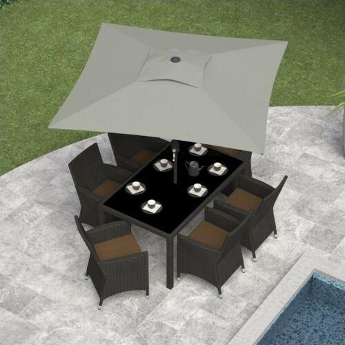 Atlin Designs Square Patio Umbrella in Sand Gray