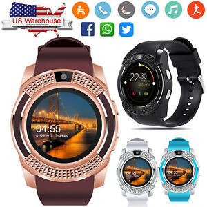 Women Bluetooth Smart Watch Phone SIM GSM for Android Samsung Note 8 ... 5bee1f2608