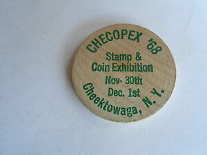 Cool Vintage 1968 Checopex Stamp Coin Exposition Cheektowaga Ny