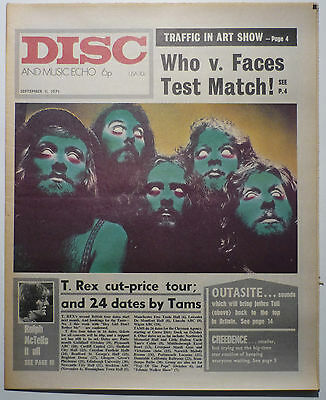 DISC & MUSIC ECHO Magazine 11/9/1971 Jethro Tull Creedence Who Ralph McTell