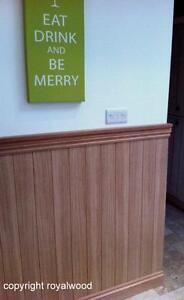 Image Is Loading Wall Panels Interior Oak Tongue And Groove Effect