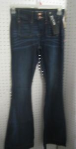 New-Ladies-Express-Jeans-Bell-Flare-Mid-Rise-2-Button-Closure-with-Zipper