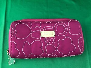 TOUS-authentic-pink-embossed-Purse-Zip-wallet-8
