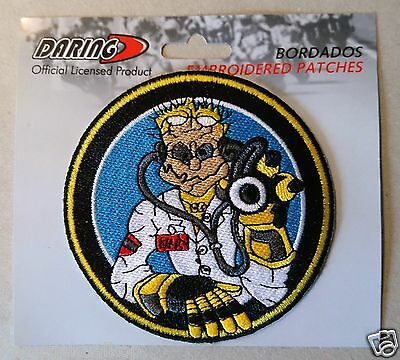 / Motorsport Motorcycles Biker Iron on Patch/  / The Doctor 46/  / Motorbike/  / Yellow/  / Applique Embroidery Embroide / Sun/  / Valentino Rossi/  Patches/