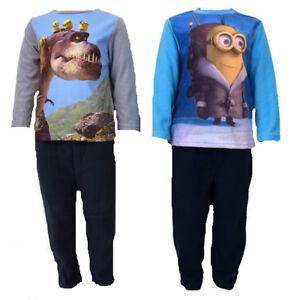 Kinder-Pyjama-Neu-Jungen-Schlafanzug-Jungen-Pyjama-2-Tlg-Kinder-Pulli-Hose