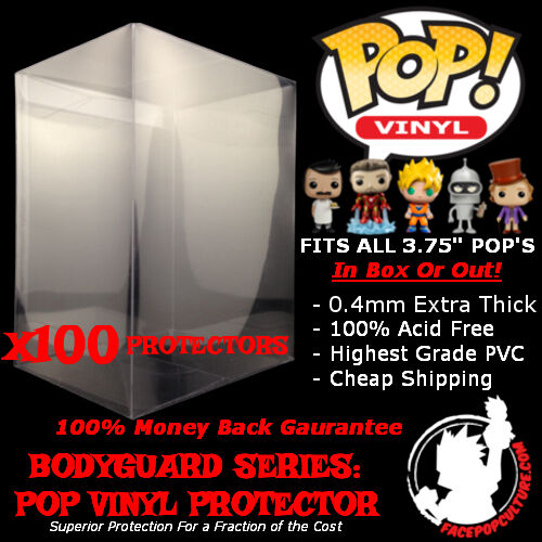 Protector De Vinilo FUNKO 3.75 POP Vitrina alto grado extra gruesa X 100 casos