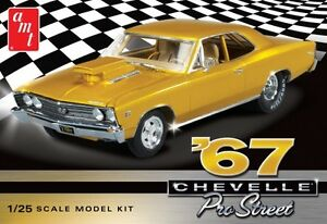 AMT-1967-Chevy-Chevelle-Pro-Street-1-25-scale-plastic-model-car-kit-new-876